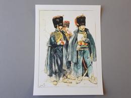 Affiche : Officiers D'artillerie A Cheval De La Garde Imperiale Premier Empire & - Autres