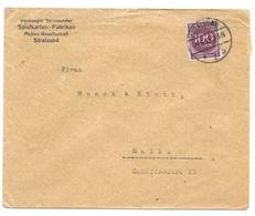 """Stralsund - Deutsches Reich - Lettre -  """"Vereinte Stralsunder Spielkarten-Fabriken"""" Vers Mainz, Mi. 268; 1923 - Deutschland"""