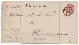Frammento Di Stampe Fra Sindaci Da S. Michele Extra A Sommacampagna 5.8.1875 Con Collettoria Corsivo S. Michele Extra - 1861-78 Vittorio Emanuele II