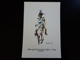Affiche : Naples, Guides De La Garde Royale 1 Er Camp Sergeant & - Livres, Revues & Catalogues