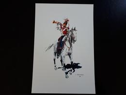 Affiche : Trompette Du 1 Er Lanciers 1835 & - Other