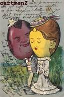 BELLE CPA GAUFREE 1900 COUPLE CARICATURE ILLUSTRATEUR - Illustratoren & Fotografen