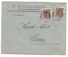 """Kirchheimbolanden- Deutsches Reich - Lettre -  """"W. Holtschmidt Kirchheimbolanden."""" Vers Mainz, Mi. 208, 1923 - Allemagne"""