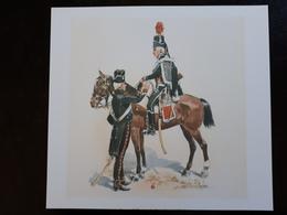 Affiche : Cavalier Et Sous-officier De Hussards 1793 & - Other