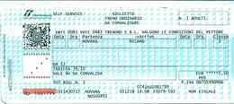 Biglietto  Treno  UTILIZZATO   -   Novara / Milano   -   Del  5  Dicembre  2018. - Treni