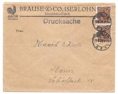 """Iserlohn - Deutsches Reich - Lettre -  """"Brause & Co. Iserloh - Schreibfeder-Fabrik"""" Vers Mainz, Mi. 208, 1923 - Allemagne"""