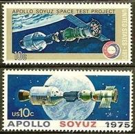 1975 USA Apollo-Soyuz Stamps #1569-70 Space Joint Issue Earth Globe - History