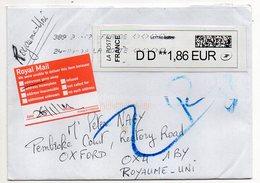 2019--lettre à Destination Du Royaume-Uni ( En Retour )--Vignette Type  Calise - Marcophilie (Lettres)