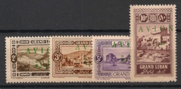 Grand Liban - 1925 - Poste Aérienne PA N°Yv. 9 à 12 - Série Complète - Neuf Luxe ** / MNH / Postfrisch - Posta Aerea
