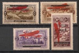 Grand Liban - 1927 - Poste Aérienne PA N°Yv. 21 à 24 - Série Complète - Neuf Luxe ** / MNH / Postfrisch - Great Lebanon (1924-1945)