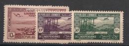 Grand Liban - 1938-42 - Poste Aérienne PA N°Yv. 79 - 80 - 81 - 3 Valeurs - Neuf Luxe ** / MNH / Postfrisch - Great Lebanon (1924-1945)