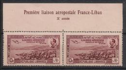 Grand Liban - 1938 - Poste Aérienne PA N°Yv. 79a - Dentelé 13.5 - Paire Bdf - Neuf Luxe ** / MNH / Postfrisch - Great Lebanon (1924-1945)