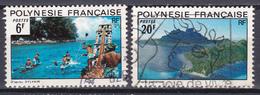 Polynésie Paysages  N°99-102 Oblitéré - Polynésie Française