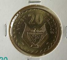 Rwanda 20 Francs 1977 Varnished - Rwanda