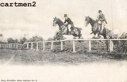 JOCKEYS SAUT D'OBSTACLES NELS BRUXELLES BELGIQUE 1900 HIPPODROME HIPPISME CHEVAL HORSE JOCKEY SPORT - Paardensport