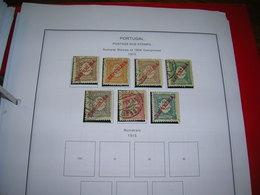 Portogallo Postage Due 1910 Numerals Ovpr.  Scott.J 14/20 Scan On Scott.Pages; - Usati