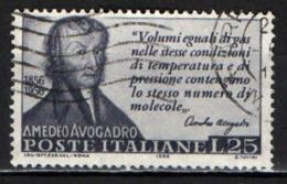ITALIA - 1956 - CENTENARIO DELLA MORTE DI AMEDEO AVOGADRO - FISICO - USATO - 1946-.. République