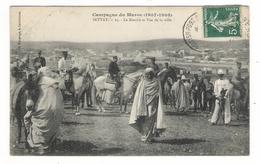 Campagne Du MAROC  ( 1907-1908 ) / SETTAT / LE MARCHE ET VUE DE LA VILLE / Edit. BOUSSUGE / Cachet BRITISH POST - Maroc