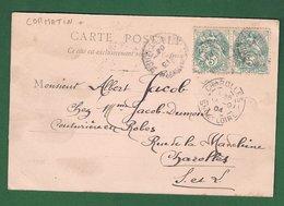 CORMATIN : CPA De 1904 +  Boite Rurale   ( Non  Identifiée ) : Saône Et Loire - Marcophilie (Lettres)