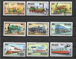 MONGOLIA 1979 LOCOMOTIVE YVERT. 1027-1035 USATA VF - Mongolie