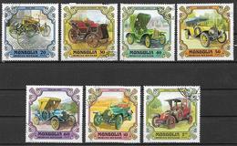 MONGOLIA 1980 VECCHIE AUTOMOBILI YVERT. 1081-1087 USATA VF - Mongolia
