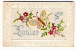 SAINTE-LOUISE  ( Fleurs Et Papillon ) /  CARTE  BRODEE - Brodées