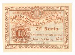 MONCHIQUE - CÉDULA DE 10 CENTAVOS DA CÂMARA MUNICIPAL DE MONCHIQUE. - Portugal