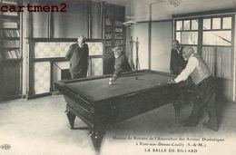 BILLARD POOL SNOOKER BILLIARD PONT AUX DAMES MAISON DE RETRAITES SPORT - Postcards