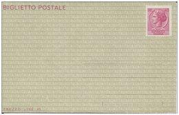 REPUBBLICA - 1966 - Biglietto Postale Siracusana £.40 Nuovo Perfetto - 6. 1946-.. Repubblica