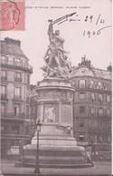 CPA - Paris Statue Moncey Place Clichy - France