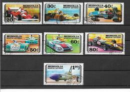 MONGOLIA 1978 AUTO DA CORSA YVERT. 944-950 USATA VF - Mongolie