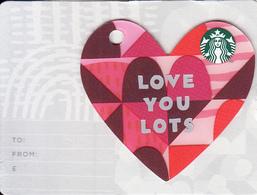 "UK - Happy Valentine""s Day/Love You Lots, Starbucks Mini Card, CN : 6162, Unused - Cartes Cadeaux"