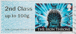 GB 2018 Game Of Thrones Post And Go 2nd Class Issue Code 026329 Used [32/174/ND] - Great Britain