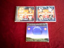 COLLECTION DE 3 CD ALBUM DE COMPILATION ° LES GRANDS MOMENTS DE LA TSF VOL 1 ET 5 + SAUVONS LA TERRE AVEC 1 INEDIT DE GE - Compilations