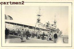 3 PHOTO ANCIENNE CUIRASSE H.M.S. RODNEY 1937 JEANNE D'ARC ALGER 1936 MARINE MILITAIRE GUERRE WARSHIP BRITISH BATTLESHIP - Boats