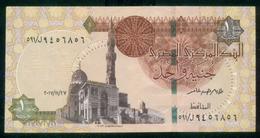 EGYPT / ONE POUND / DATE : 27 -11-2017 / P- 70 / PREFIX : L591 / SULTAN QUAYET BEY MOSQUE / ABU SIMBEL TEMPLE / USED - Egipto