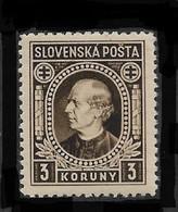 Slovakia 1939,Andrej Hlinka 3K ,Scott # 33,VF Mint Hinged*OG (MB-9) - Slovakia