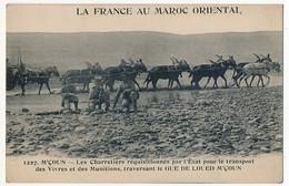 CPA - MAROC - M'ÇOUN - Les Charretiers Réquisitionnés Par L'Etat Pour Le Transport Des Vivres Et Des Munitions... - Maroc