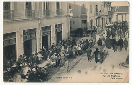 CPA - MAROC - OUDJDA - Rue De Maghrnia, Café Simon - Maroc