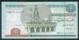EGYPT / 5 POUNDS / DATE : 16-1-2014 / P- 63(3) / PREFIX : 286 / SIG : RAMEZ / UNC. - Egipto