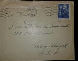 O) 1948 PORTUGAL, ST JOHN DE BRITTO SCT 692 1.75e, FROM LISBOA TO USA, - 1910-... Republic