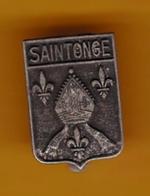 Broche En Métal - Saintonge - Pas Un Pin's - Ecusson - Armoiries - Blasons - Héraldique - Région - Obj. 'Souvenir De'