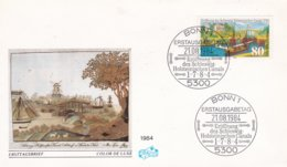 Germany FDC 1984 Eröffnung Des Schleswig-Holsteinischen Canals (DD5-17) - FDC: Buste