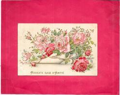 CPA COLORISEE GAUFREE FANTAISIE - Modeste Gage D'Amitié - DELC8/BES - - Fancy Cards