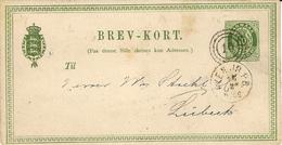 1880-  Nice C P E P 10 Ore  Cancelled 10  To Lübeck - 1864-04 (Christian IX)