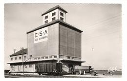EURE-ET-LOIR  /  ORGÈRES-en-BEAUCE  /  LE  SILO  DE  LA  COOPERATIVE  AGRICOLE ( Train, Camion Et Automobile Années 50 ) - France