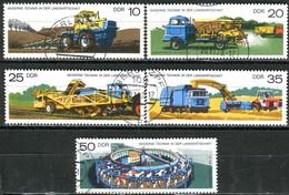 DDR - Mi 2236 / 2240 - OO Gestempelt (A) - Moderne Technik In Der Landwirtschaft - DDR