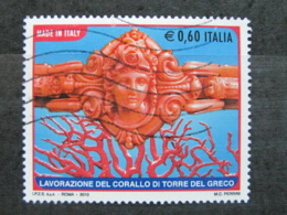 *ITALIA* USATO 2010 - CORALLO TORRE DEL GRECO - SASSONE 3194 - LUSSO/FIOR DI STAMPA - 6. 1946-.. Repubblica