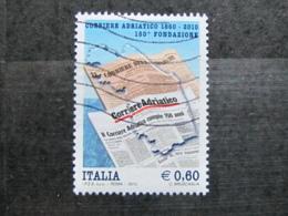 *ITALIA* USATO 2010 - 150° CORRIERE ADRIATICO - SASSONE 3196 - LUSSO/FIOR DI STAMPA - 6. 1946-.. Repubblica