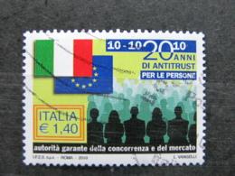 *ITALIA* USATO 2010 - AUTORITA' GARANTE CONCORRENZA - SASSONE 3197 - LUSSO/FIOR DI STAMPA - 6. 1946-.. Repubblica